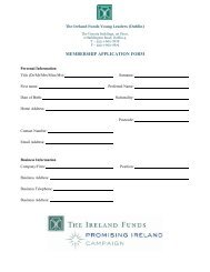 MEMBERSHIP APPLICATION FORM - The Ireland Funds
