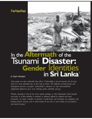 Tsunami Disaster: Gender Identities - Isis International Manila