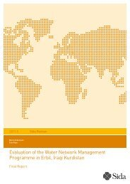 Evaluation of the Water Network Management Programme in ... - Sida