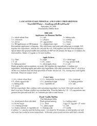 Just Add Water Recipes - Peace of Preparedness