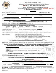 2000 early bird application and contract for exhibit space