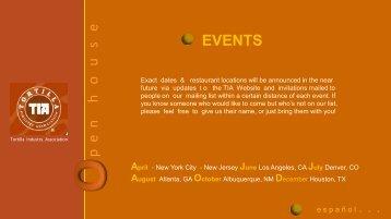 p  e  n     h   o   u   s   e EVENTS - Tortilla Industry Association