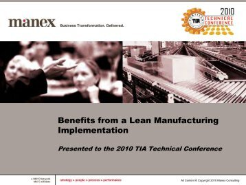 Presentation - MANEX - Tortilla Industry Association