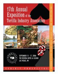 Exhibitor Prospectus - Tortilla Industry Association