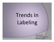 Donnell Scott - Trends in Labeling - Tortilla Industry Association
