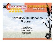 Preventive Maintenance Program - Tortilla Industry Association