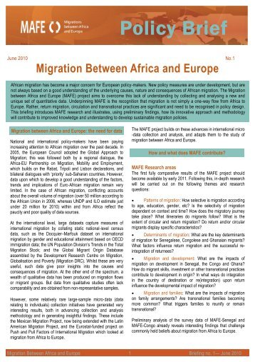 Policy Brief - African Diaspora Policy Centre