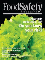 Food Safety Magazine, April/May 2012