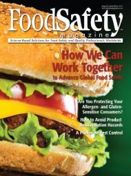 Food Safety Magazine, August/September 2012