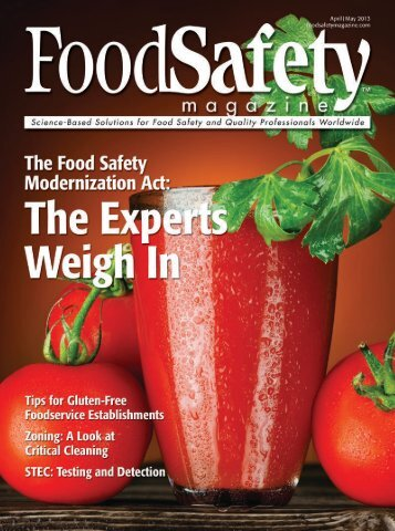 Food Safety Magazine, April/May 2013