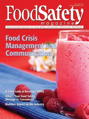 Food Safety Magazine, June/July 2012