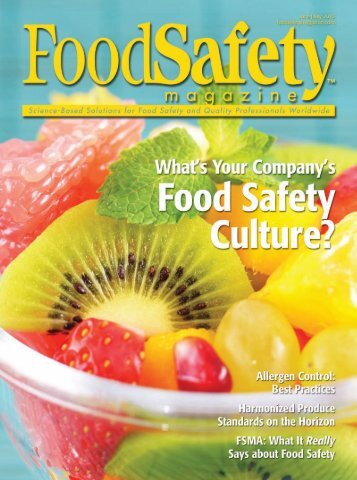 Food Safety Magazine - June/July 2013