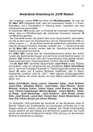 Geschichtliche Entwicklung der FFW Thaldorf