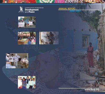 2006-2007 Annual Report - Development and Peace