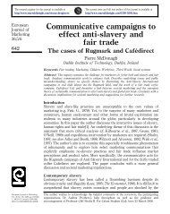 Communicative campaigns to effect anti-slavery and fair trade - CCS