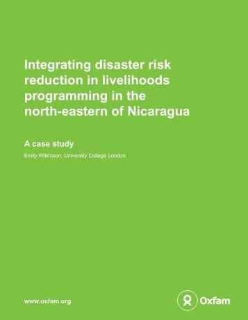 Integrating disaster risk reduction in livelihoods ... - Oxfam Blogs