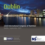 22nd International Congress of Nutrition - The Nutrition Society