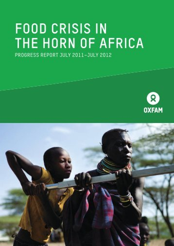 Food Crisis in the Horn of Africa: Progress Report, July 2011 - Oxfam ...