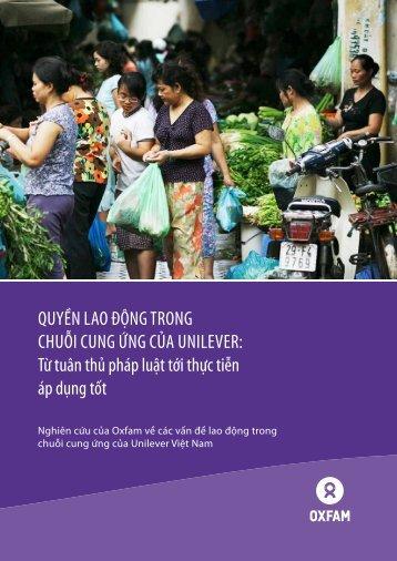 Quyền lao động trong chuỗi cung ứng của unilever ... - Oxfam Blogs