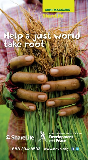 Help a just world take root - Development and Peace