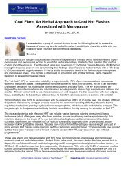 Cool Flare: An Herbal Approach to Cool Hot ... - True-Wellness