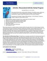 Arthritis: Rheumatoid Arthritis Herbal Program - True-Wellness
