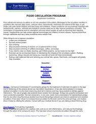 POOR CIRCULATION PROGRAM - True-Wellness