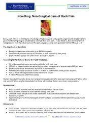 Natural Back Care - True-Wellness