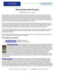 Hemorrhoids Herbal Program - True-Wellness