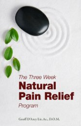 The Three Week Natural Pain Relief Program - True-Wellness