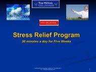 Relaxation & Stress Slide Show - True-Wellness