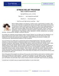 Stress Relief Program, Test, Diet, Supplements - True-Wellness