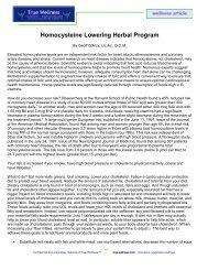 Homocysteine Lowering Herbal Program - True-Wellness