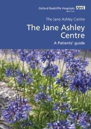 The Jane Ashley Centre (pdf) - Oxford Radcliffe Hospitals NHS Trust
