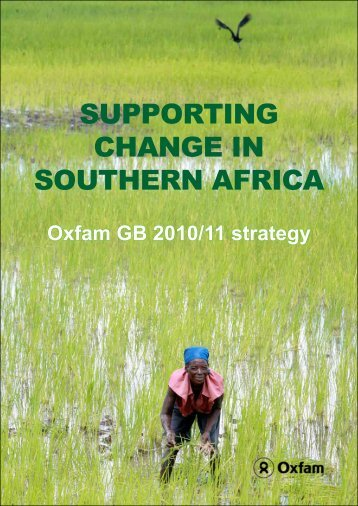 Supporting change in Southern africa - Oxfam Blogs