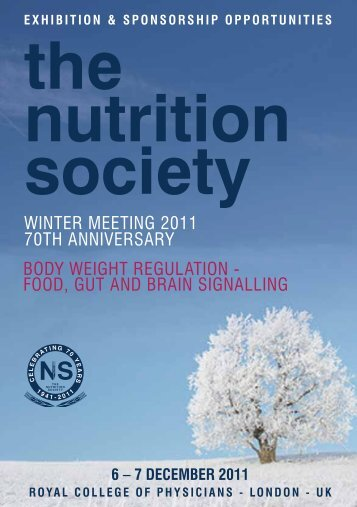 Sponsorship opportunities - The Nutrition Society