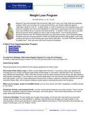 Weight Loss Program - True-Wellness