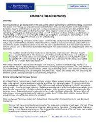 Emotions Impact Immunity - True-Wellness
