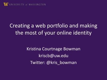 Creating a web portfolio and making the most of your online identity