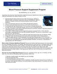 Blood Pressure Support Supplement Program - True-Wellness