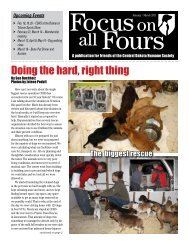 Doing the hard, right thing - Central Dakota Humane Society