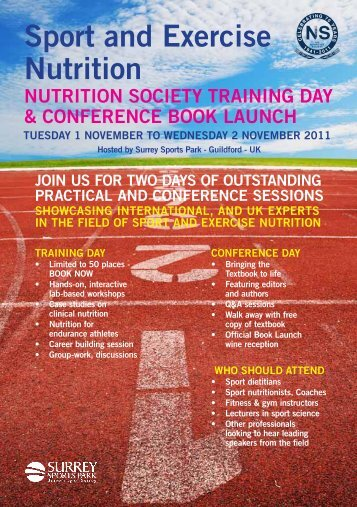 Sport and Exercise Nutrition training day & conference book launch