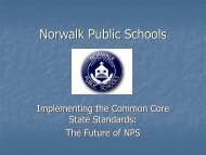 Common Core State Standards - REd APPLES of Norwalk