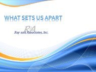 Ray and Associates – What sets us apart - REd APPLES of Norwalk
