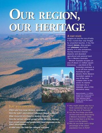 Western Australia [pdf] - Mount Lawley SHS Internal Web Site