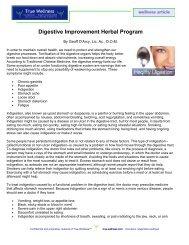 Digestive Improvement Herbal Program - True-Wellness