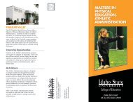 masters in physical education, athletic administration - College of ...