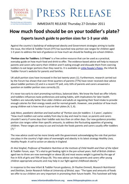 How much food should be on your toddler's plate? - The