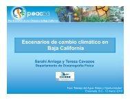 Escenarios de cambio climático en Baja California