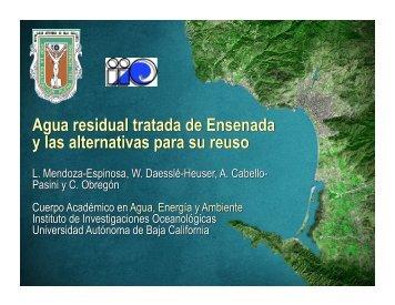 Agua residual tratada de Ensenada y las alternativas para su reuso